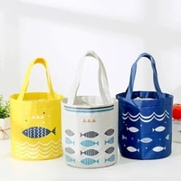 portable cylinder cooler lunch bag fashion ctue fish multicolor bags women waterpr hand pack thermal breakfast box picnic travel