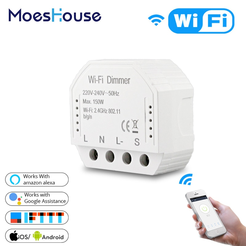 DIY умный WiFi свет светодиодный диммер умный жизнь/Tuya приложение дистанционное управление 1/2 переключатель, работает с Alexa Echo Google Home
