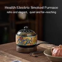 220v timing thermostat electronic essential oil burner arab incense holder aroma burner sandalwood furnace frankincense burner