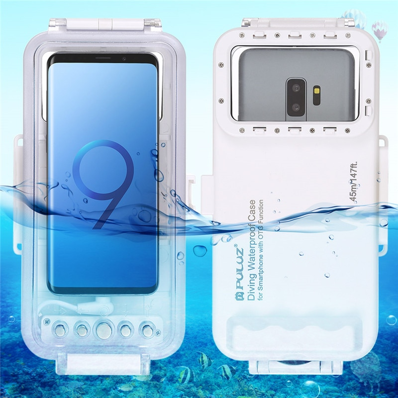 45m Waterproof Diving Photo Video Taking Underwater Cover for Galaxy Huawei Xiaomi Google Android OTG Phone with Type-C Port