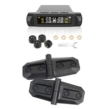 TPMS Tyre Pressure Monitoring SystemTyre Security Alarm Systems with 2PCS Car Door Hinge Cover for S