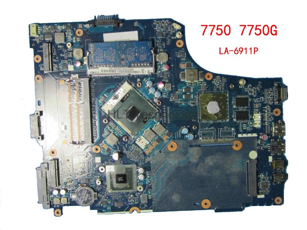 HOLYTIME placa base de Computadora Portátil para Acer aspire 7750 7750G P7YE0 LA-6911P MBBVV02001 MB BVV02.001 HM65 DDR3 HD7400M 100% probado
