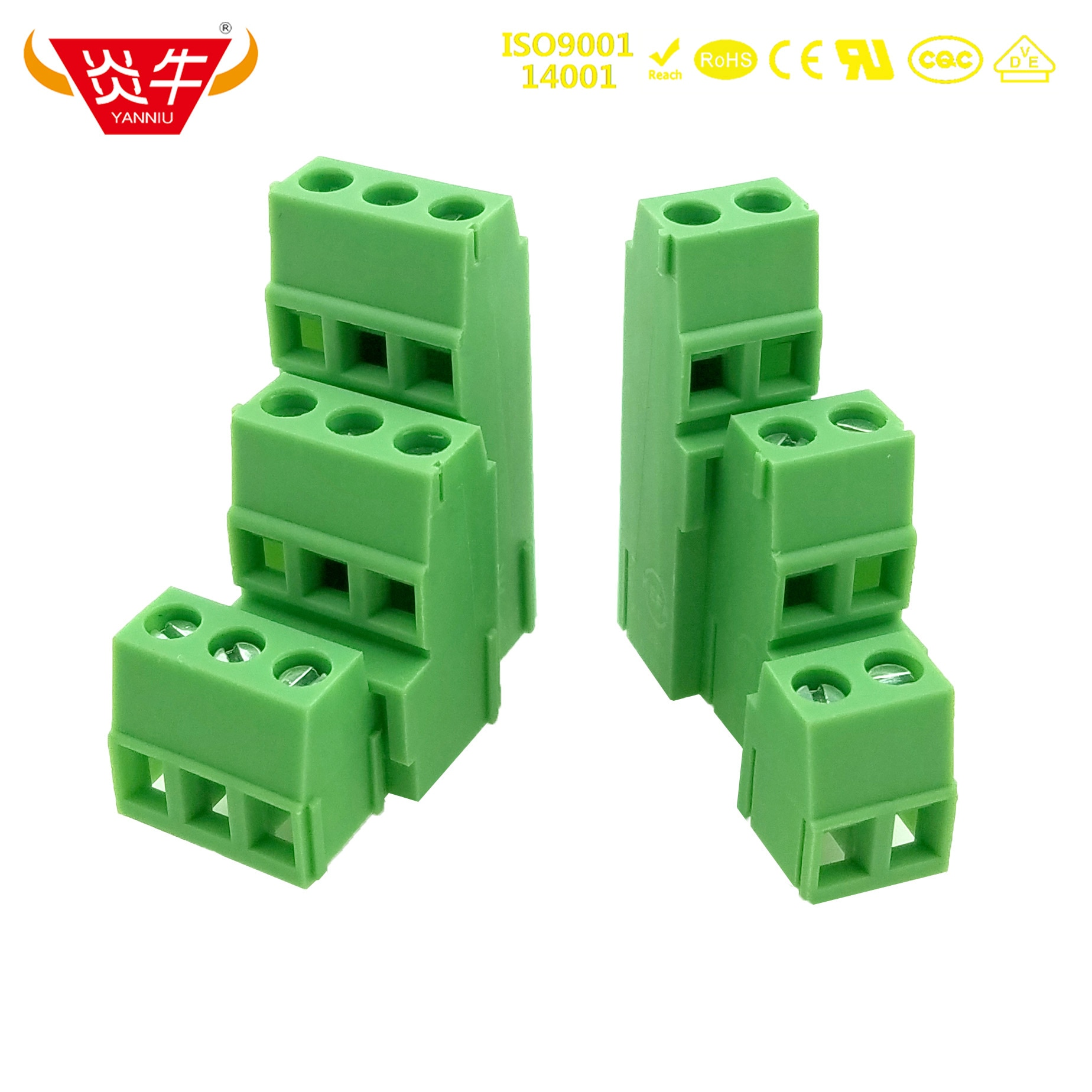 KF128A3 128A3 5.0mm 2P 3P PCB UNIVERSAL SCREW TERMINAL BLOCKS DG500A3 2PIN 3PIN MK3DS 1,5/ 2-5,0 PHOENIX CONTACT DEGSON KEFA