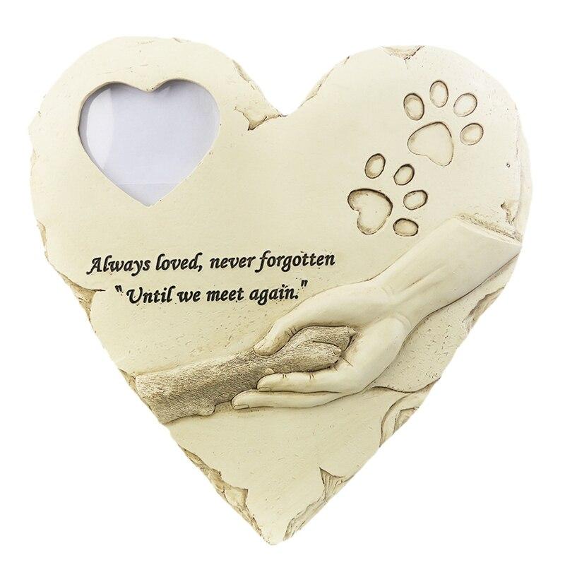 Piedras conmemorativas para mascotas, lápidas de lápida para mascotas recuerdo en exteriores o en interiores, marcadores de tumba para jardín, patio trasero
