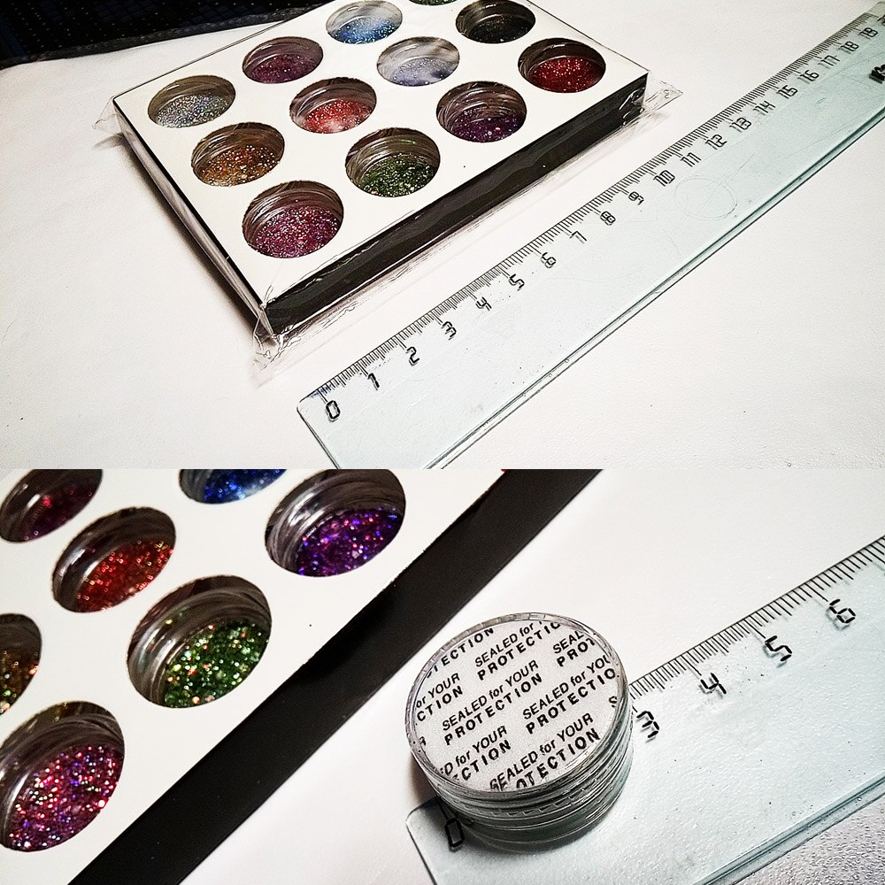 Купить с кэшбэком 12jars/set Laser Mixed Nail Glitter Powder Sequins Holographic Colorful Nail Flakes 3D DIY Charm Dust For Nail Art Decorations