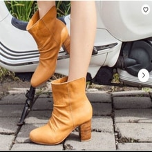 New Arrivals Faux Suede Leather Zipper Design Women Boots Fashion High Heels Casual Stylish Modern B