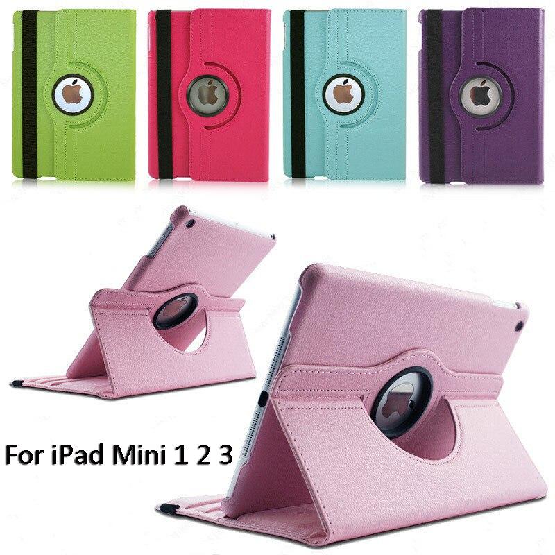 Кожаный умный чехол с поворотом на 360 градусов, чехол для Apple iPad mini 1 2 3, откидной Чехол-книжка с подставкой, Защитная пленка для экрана, чехол 7,...