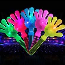 28cm éclairer jouets applaudissements accessoires lumière LED mains Clapper palmiers tirer enfants jouet fête faveurs hochet en plastique Halloween décor