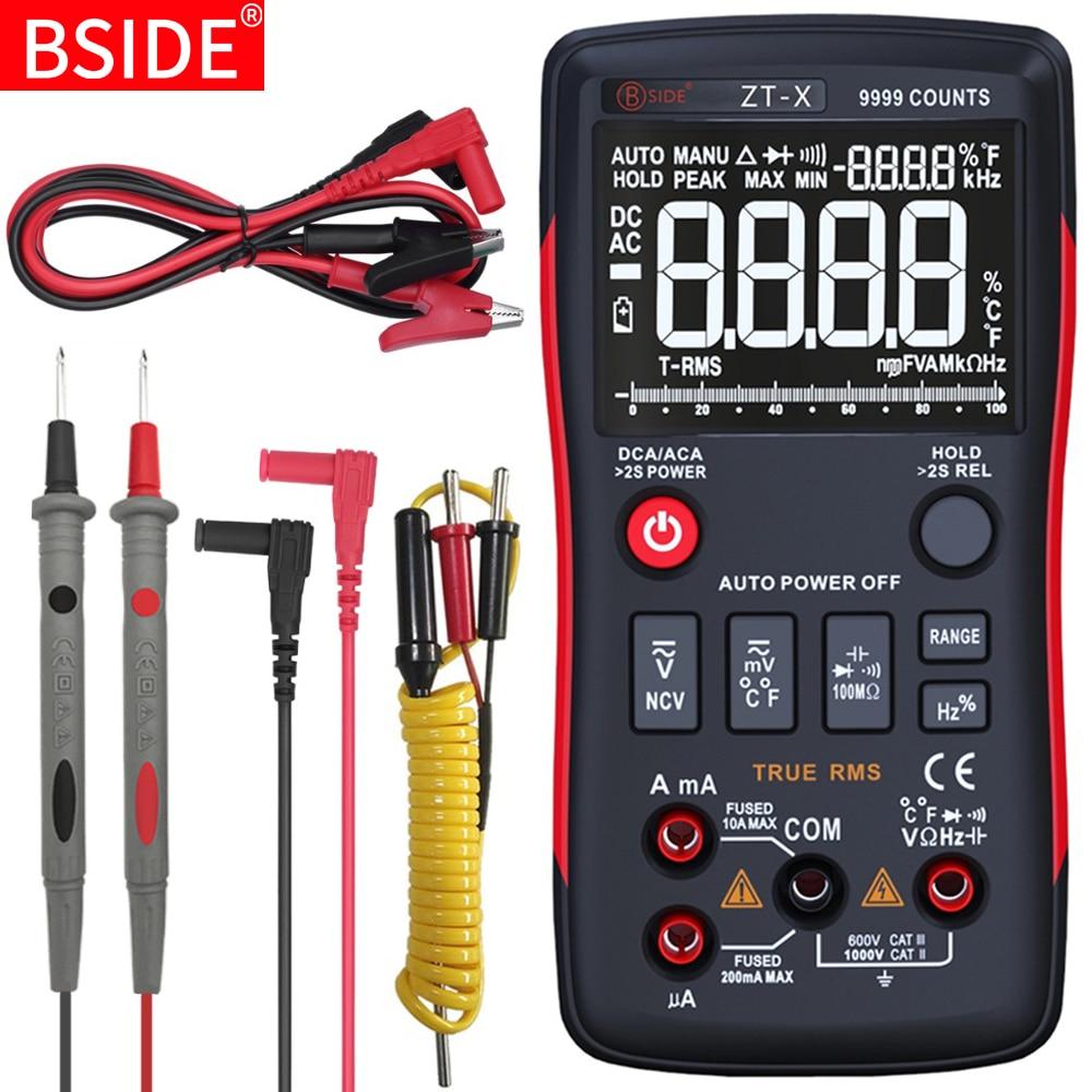 Multímetro Digital serie BSIDE, multímetro de rango automático auténtico, amperímetro, capacitancia, medidor de temperatura HZ, NCV