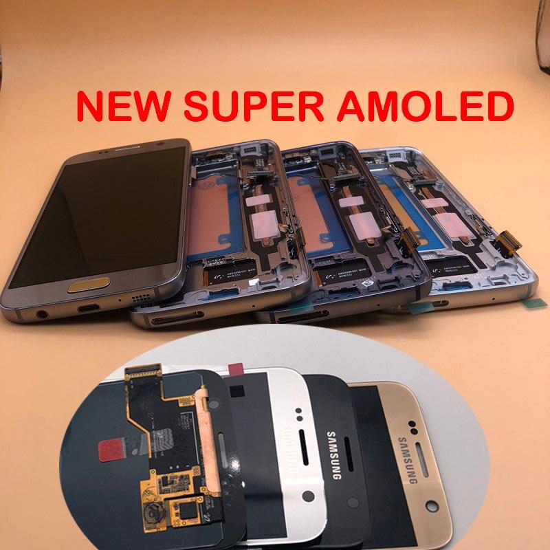 Nuevo Marco de pantalla LCD ORIGINAL para SAMSUNG Galaxy S7 G930 G930F G930A G930V marco digitalizador pantalla táctil montaje sin sombra