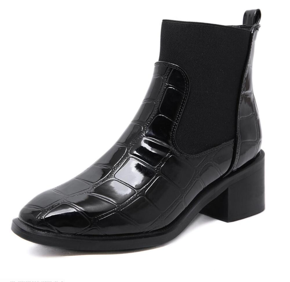 Botas de Mujer a la moda, Botas de chelsea, zapatos de tacón...