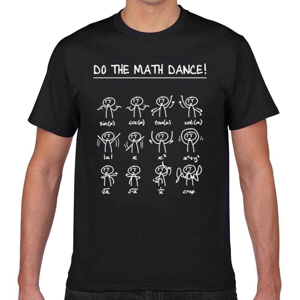 Tops camiseta para hombre para bailar matemáticas Hip Hop Vintage Geek camiseta personalizada para hombre XXXL