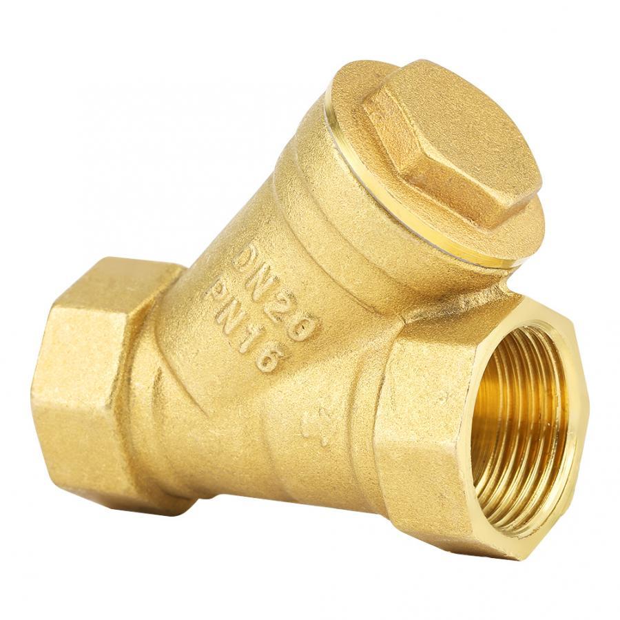 """Conector de válvula de filtro de latón con forma de Y rosca hembra BSPP de 3/4 """"para herramientas de separación de aceite de agua"""