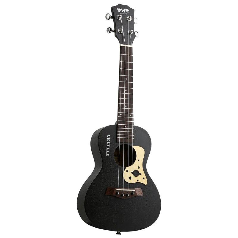 BWS EST & 1988 23 Inch Black Concert Ukulele 4 Strings Mahogany Hawaiian Mini Guitar Uku Acoustic Guitar Ukelele
