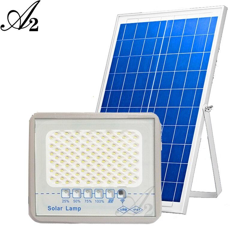 A2 Door side Solar Lighting LED Lamp 80㎡ Spotlight Rode Street Wireless Outdoor Garden Waterproof 100W 300W 500W