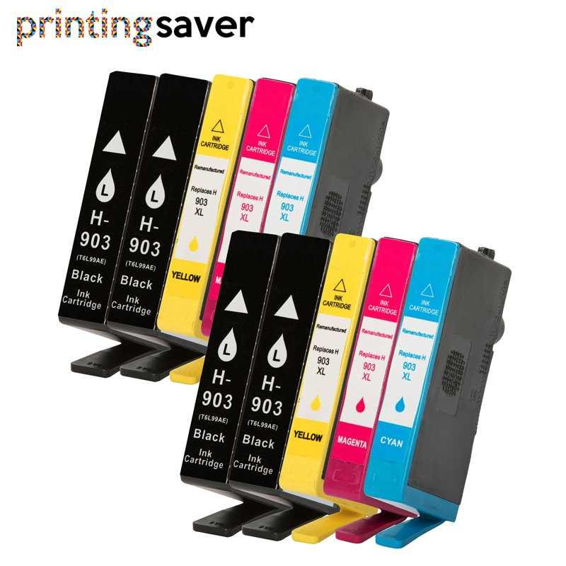 10x cartucho de tinta Compatible para hp 903 903XL 907 hp 903 para hp Officejet Pro 6950, 6960, 6962, 6963, 6965 6966 de 6968 impresora 6970