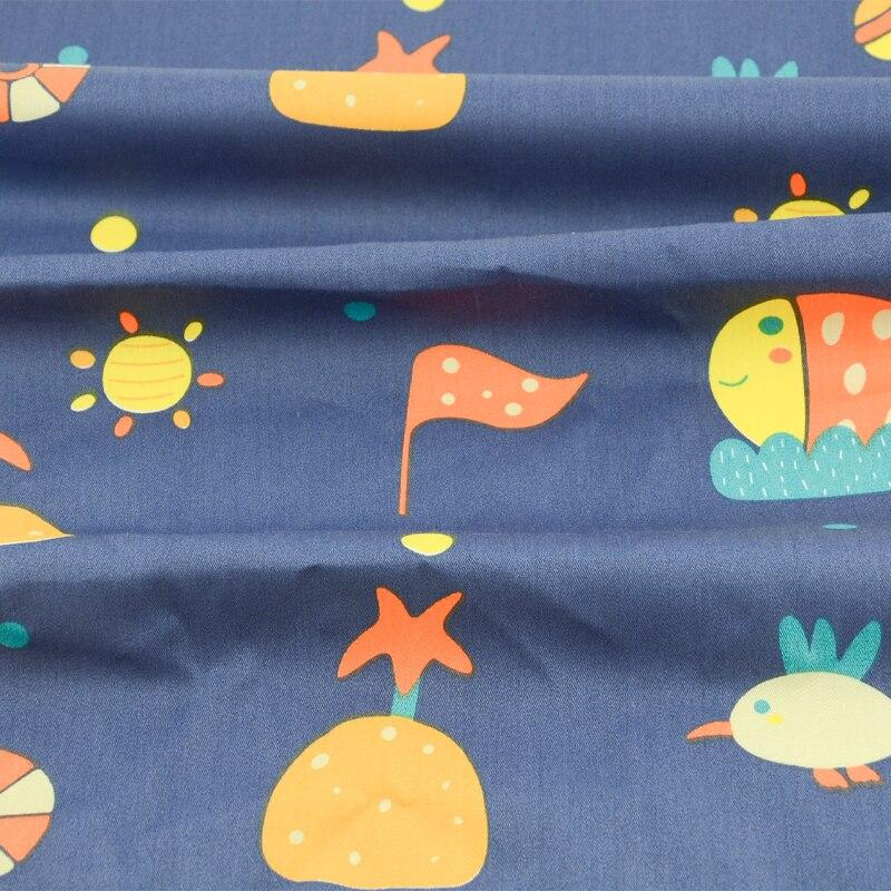 Tela de sarga de algodón para 100% de libros, tela de retazos teñida para coser, tejido de tela con diseño de dibujo de cuento de hadas, Material de tejido