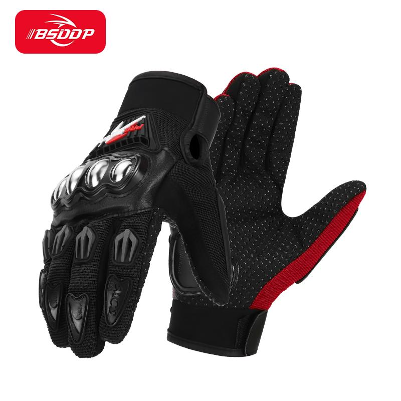 free shipping newest rs 390 full skin perforated carbon fiber glove motorcycle racing gloves full finger 3 size 3 color BSDDP Motorcycle Man's Gloves Outdoor PRO Motocross Breathable Full Finger Racing Motorbike Fashion Glove Protective Gears