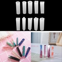 11 style cylindrical cuboid crystal epoxy resin mold for necklace pendant epoxy resin mold diy jewelry making findings supplies