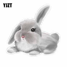 YJZT 14.3CM*15CM Fantasy Beautiful Animal Rabbit PVC Car Sticker Decal C29-1055