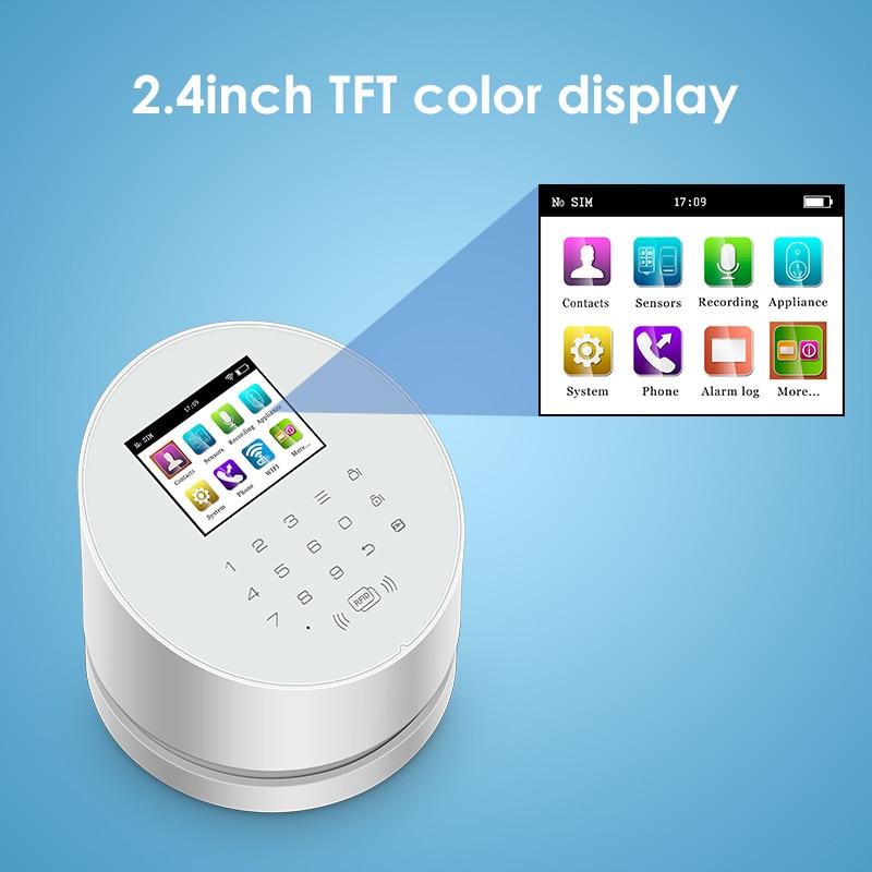 KERUI W2 Home Security Alarm System WIFI GSM PSTN Wireless Alarm Panel With PIR Motion Detector Door Open Sensor WIFI Camera enlarge