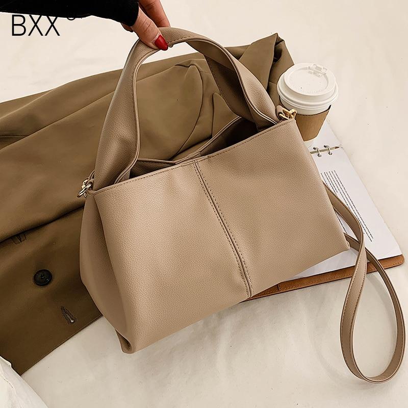 [BXX] PU Leather High Capacity Crossbody Bag 2021 Fashion High Quality Lady Travel Luxury Shoulder Handbag and Purses HQ828
