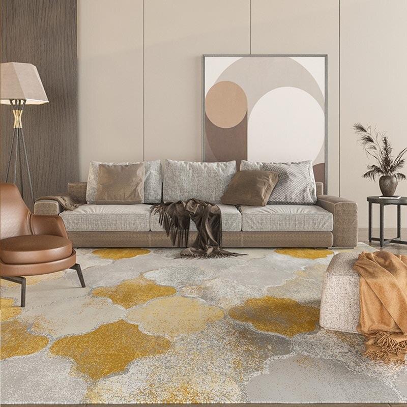 Alfombra turca persa de lujo Retro Para el hogar, sala de estar, alfombra Blanca Dorada esponjosa, alfombra de algodón suave, alfombra decorativa para oficina de estudio