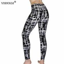 Visnxgi Nieuwe Leggings Print Elastische Fitness Legins Silm Fit Vrouwen Hoge Taille Leggins Stretch Casual Slim Potlood Broek Legging