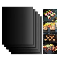 b b q non stick bbq grill mat baking mat cooking grilling sheet heat resistance easily cleaned kitchen tools