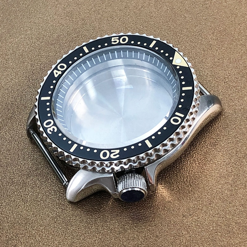 Sapphire Glass Watch Case For Seiko SKX007 SKX009 Crown at 3.8 o'clock Fit NH35 NH36 4R36 MovementMen's Watches Man Watch Repair enlarge