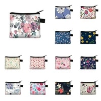 vintage flower print coin purse women wallet ladies multicolor pattern cute coin bag id credit card case mini coin holder