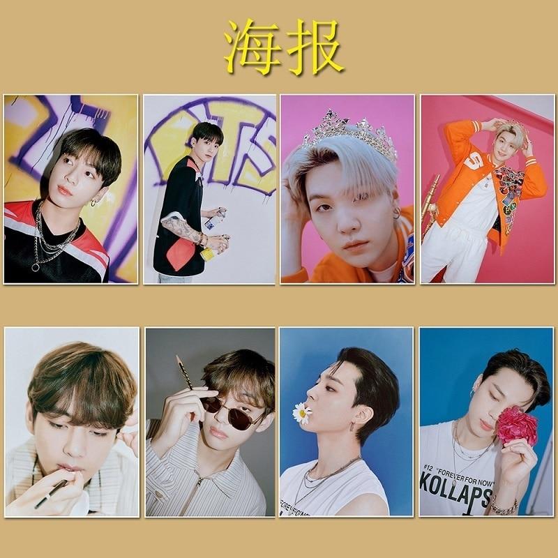 KPOP Bangtan Boys плакат самоклеящийся фото Лось наклейка HDPosters JK V охватывающая Новая Корея группа спасибо открытка