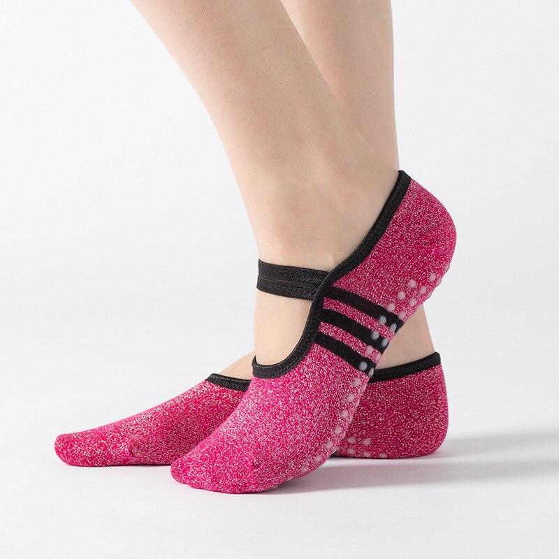 Йога Носки для пилатеса и балета для танцевальных носков велосипедные носки нескользящие повязки хлопка спортивные носки для йоги