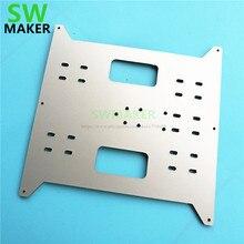 Y arabası yükseltme alüminyum kompozit levha 4mm kalınlık Maker için seçin, Wanhao Duplicatior i3, anycubic i3 Mega 3D yazıcılar
