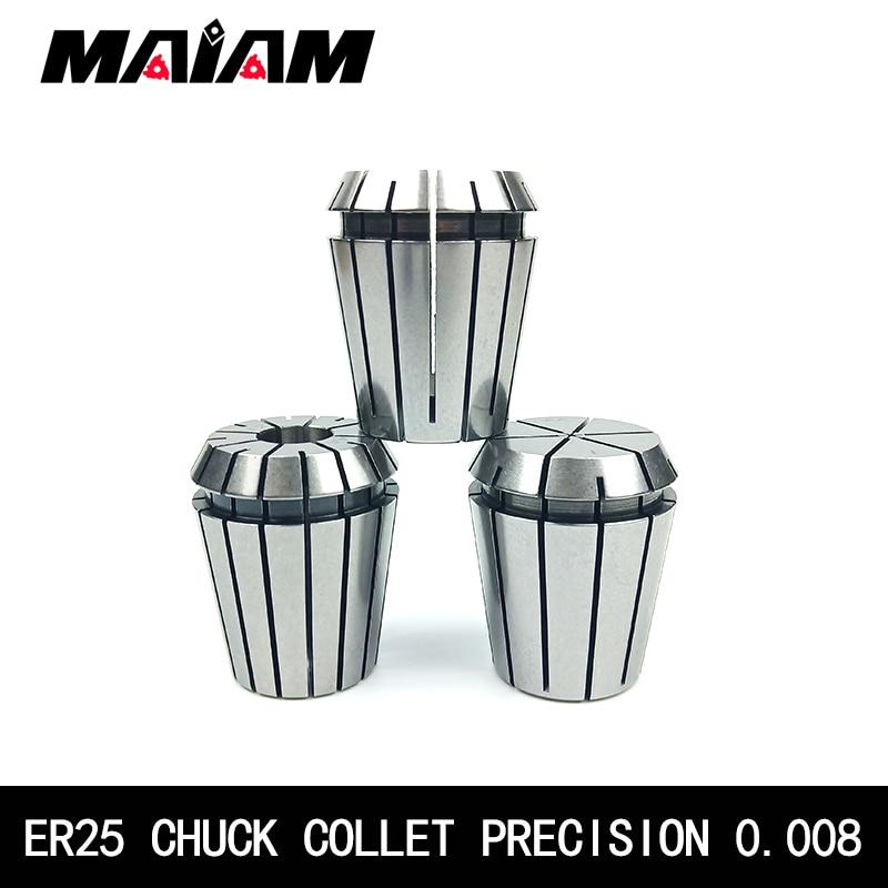 Precision 0.008 ER25 chuck ER25 collet 6mm 8mm 10mm 12mm 1/2 1/4 1/8 ER chuck for CNC Engraving Machine Lathe Mill Tool holder недорого