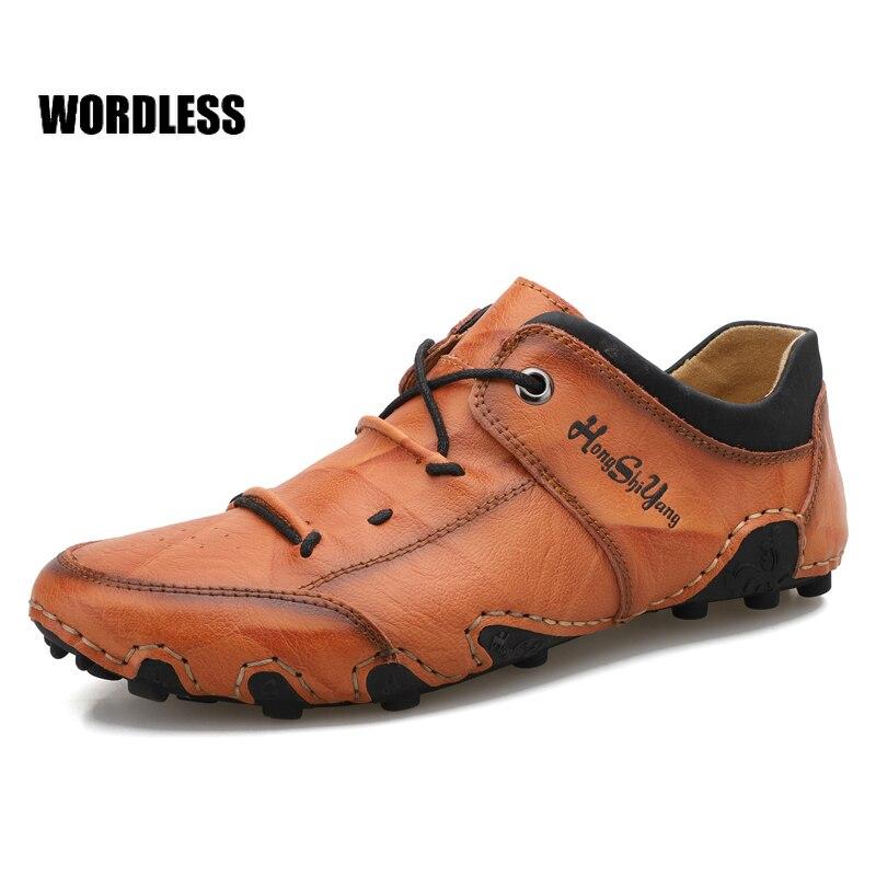 2021 nuevos zapatos de los hombres de primavera cómodo suave de piel...