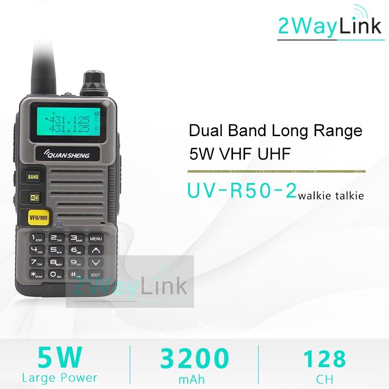QuanSheng talkie-walkie UV-R50-2 UHF VHF 5W Radio bidirectionnelle 3200mAh Portable Quansheng UV-R50-2 Radio TG-UVR50