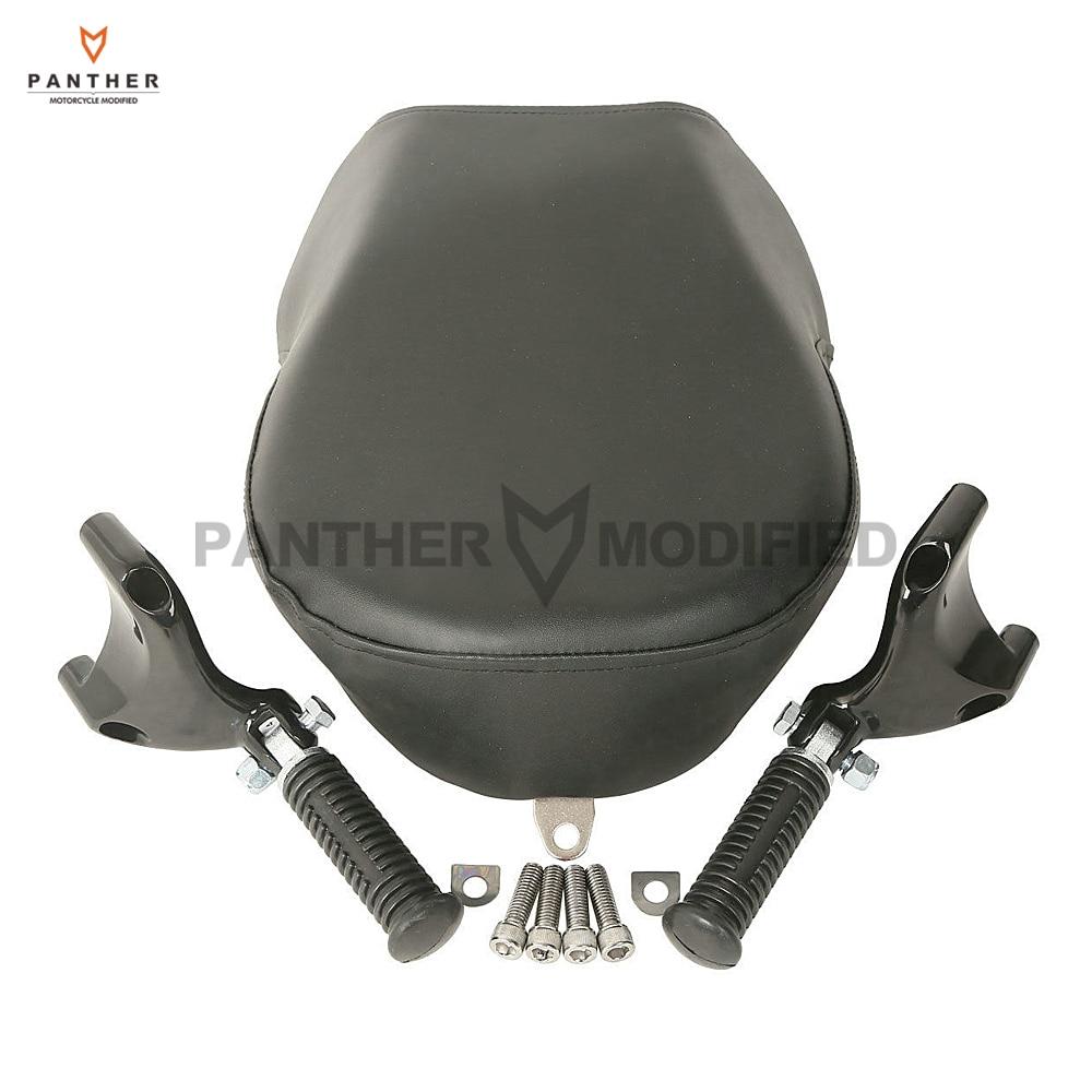 Cubierta negra para asiento de pasajero de clavija trasera de motocicleta para Harley Sportster XL883 XL1200 2007-2013