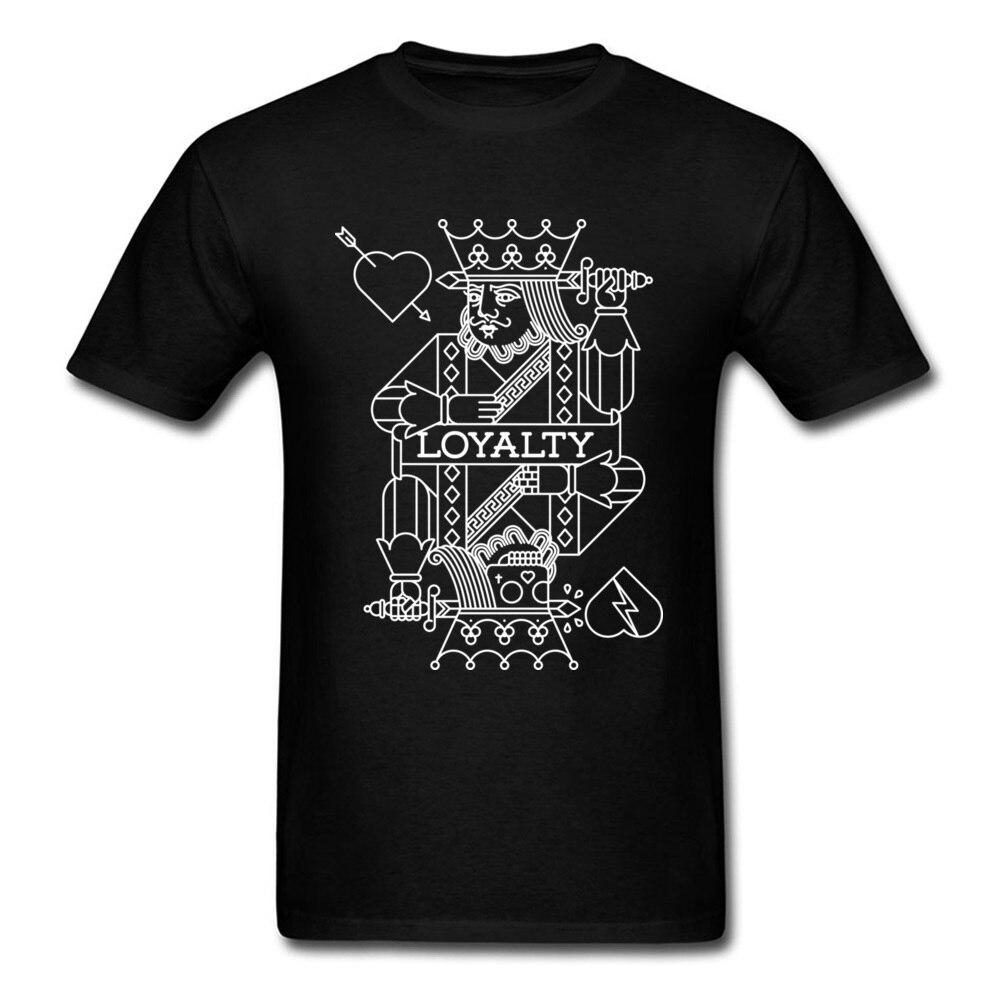 Camiseta estampada de rey para hombre, camisa blanca y negro con mensaje...