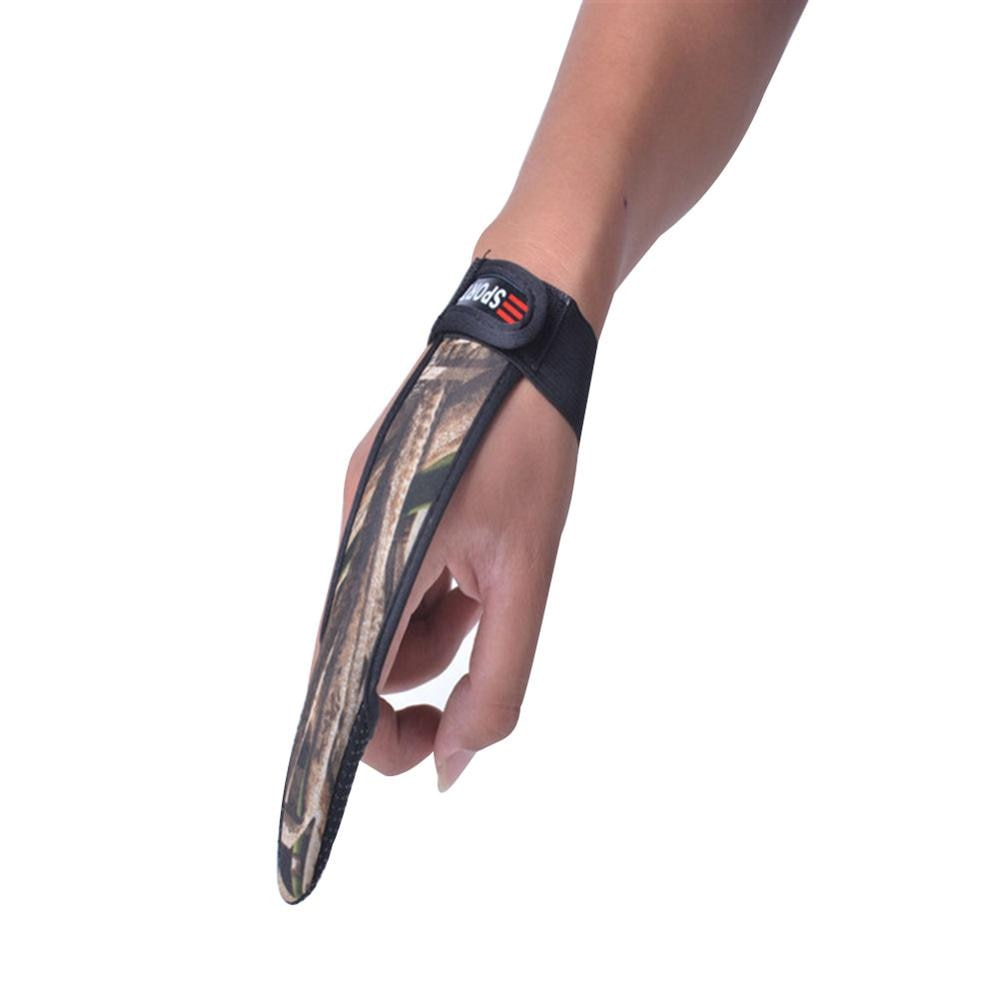 Guantes de pesca un solo dedo Protector sin herramientas deslizantes camuflaje señuelo pesca guantes de pesca accesorios para exteriores