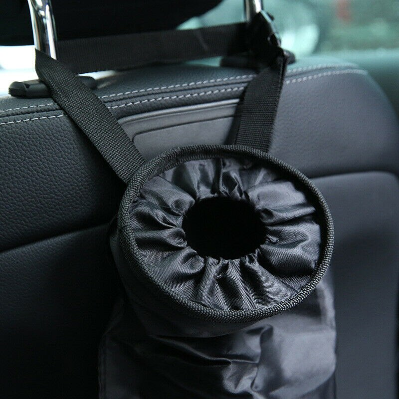 Car Dustbin Garbage Bag Dust Seat Back Storage Rubbish Bin Box Case Sundries Holder Organizer Pocket Bags Trash Can Portable