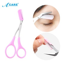 Eyebrow Trimmer Scissors Comb Eyelash Clips Comb Razor Grooming Hair Knife Shaver Eye-brow Fashion S