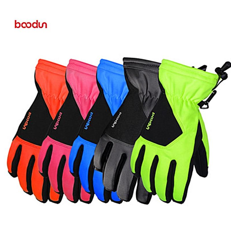 Мотоциклетные велосипедные перчатки Boodun, лыжные перчатки, зимние лыжные варежки для защиты от снега, Мотоциклетные Перчатки, варежки для му...
