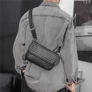 Chuwanglin Handbag Women Shoulder Crossbody Bags Handmade Weave Woman Chest Messenger Bag Flap Leather Phone Purse 8230928