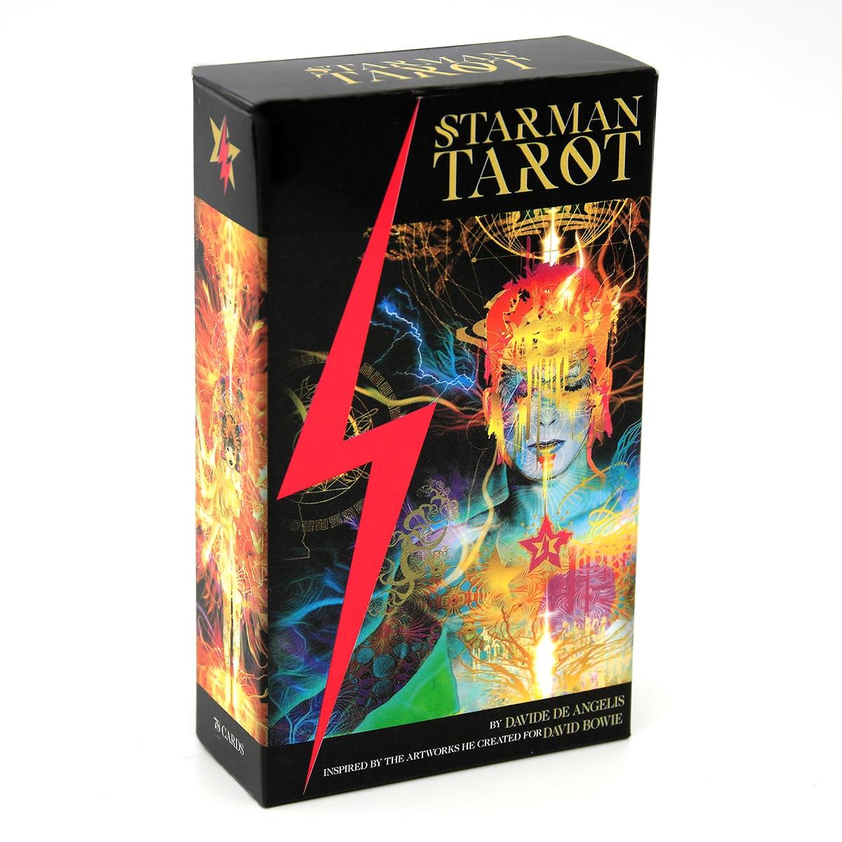 78-Juego De cartas para principiantes, Starman Tarot, Davide, De Angelis, imantado Kit De Tarot E Guidebook, Divination Book