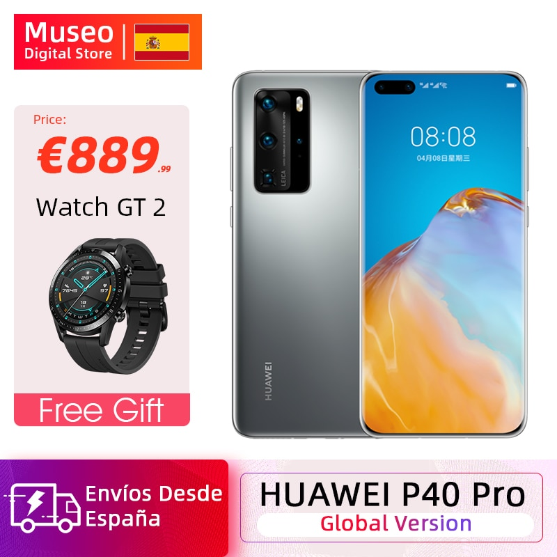 Versión global Huawei P40 Pro 8G 256G Kirin 990 5G Smartphone Cámara cuádruple de 50MP 6.58'' Pantalla SuperCharge 40W