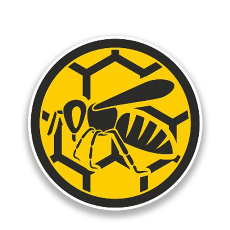 Funny PVC Sticker Insect Bee Car Styling Window Truck Door Bumper Decal Graphic Car Sticker ZWW-2061, 13cm X 13cm
