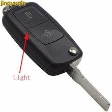 Jingyuqin 10 шт., 2 кнопки дистанционного управления, откидной складной чехол для ключей автомобиля, чехол для Vw VOLKSWAGEN MK4 Seat Altea Alhambra Ibiza Fob