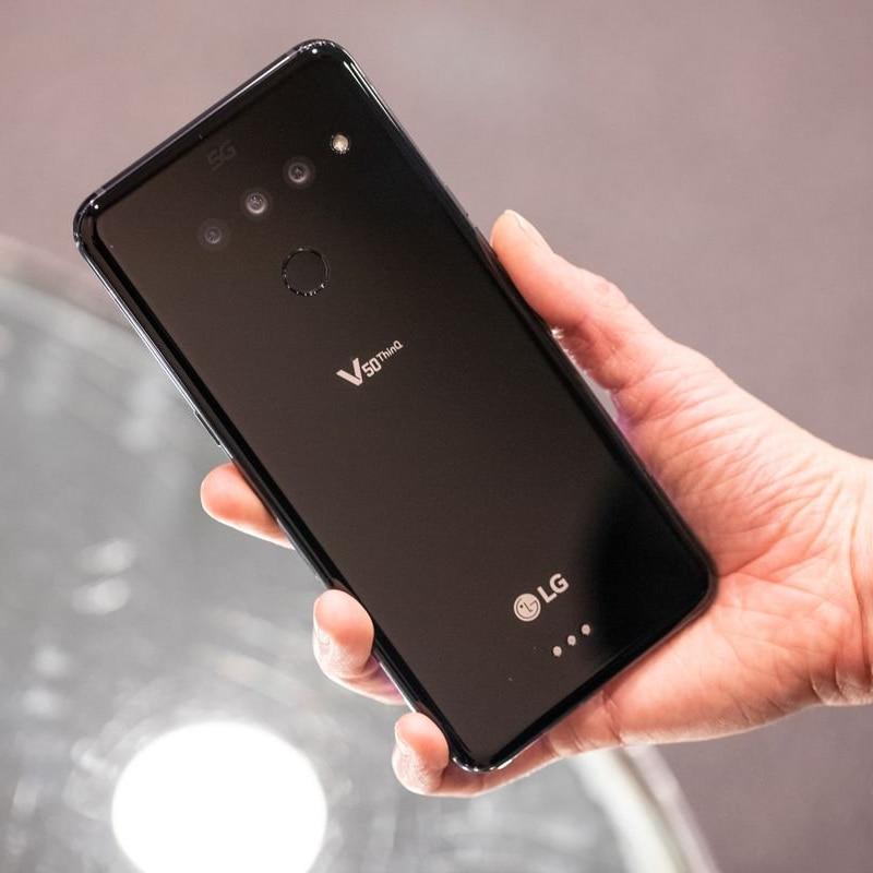 Фото4 - Разблокированный мобильный телефон LG V50 ThinQ Korean V500N Восьмиядерный 6,4 дюйм. 6 ГБ ОЗУ 128 Гб ПЗУ NFC 3 + 2 камеры 16 МП 4G LTE Android смартфон