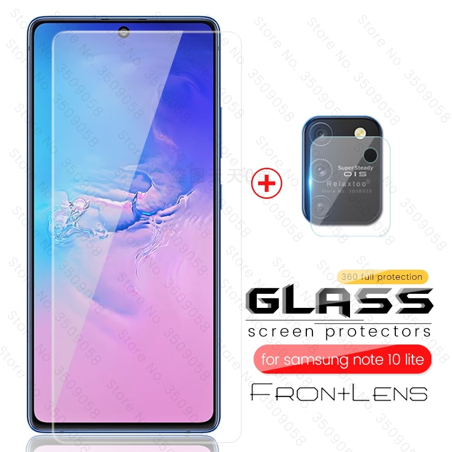 2-in-1 protective glass for samsung galaxy s10 lite light sm-g770f /ds 6.7'' camera protector on sam